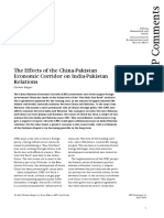 CPEC and India-Pak Relations
