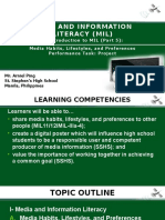 1. Introduction to MIL (Part 5)- Media Habits and Performance Task- Project