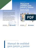 Manual de Oralidad Para Jueces y Juezas