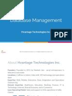 HTI Database Management