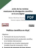 Evaluación de las revistas mexicanas de divulgación en la era digital
