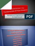 Presentation Fundamentals of Project Management