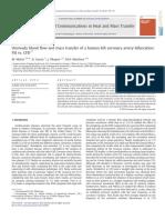10.1016 J.icheATMASSTRANSFER.2012.04.009 Unsteady Blood Flow and Mass Transfer of a Human Left Coronary Artery Bifurcation FSI vs CFD