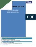 Tmrac Comments on Finance Bill 2015