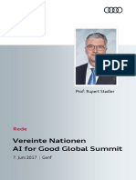 Rede Rupert Stadler Beim AI for Good Global Summit