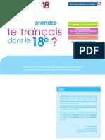 Plaquette Apprendre Le Francais