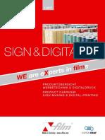 X Film Sign Digital Produktkatalog