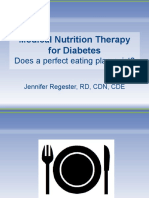 Medical Nutrition Therapy for Diabetes