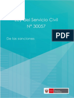 Ley Del Servicio Civil 30057 Parte de Sanciones