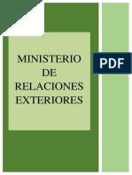 Ministerio Relaciones Exteriores Trabajo.