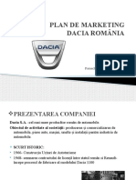 Plan de Marketing Dacia