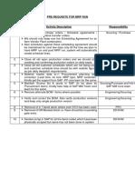 Pre Requisites MRP