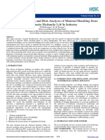 Hazard Identification and Risk Analysis of Material Handling Semi Automatic Hydraulic Lift in Industry
