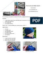 Picot and Lace Baby Cloche Crochet Pattern_www.aestheticnest
