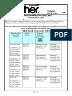 Print Head Warranty Guidelines