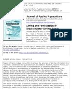 Liming and Fertilization of Brackishwater Shrimp Ponds