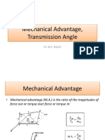 Lecture 4- Mechanical Advantage, Transmission Angle