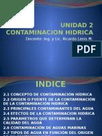 UNIDAD 2 Contaminación Hídrica