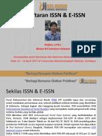 Pendaftaran ISSN Dan E-IsSN