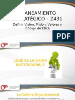 2017-2-2 SEGUNDA SEMANA_La Cultura Organizacional. Definir Vision Mision Valores y Código de Ética_1