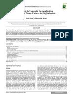 Recent Advances in  the Application  of Plant Tissue Culture in  Dieffenbachia