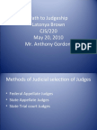Path to Judgeship