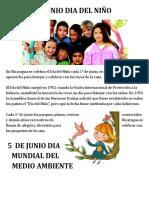 Efemerides de Junio 2017 Nicaragua