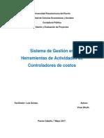 Sistema de Gestión en  Herramientas de Actividades de  Controladores de costos