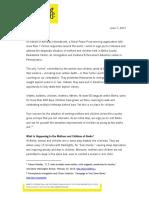 Carta de Aministía Internacional a Ivanka Trump