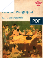 G T Deshpande - Abhinavagupta
