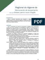 20100119 Memorando de lançamento do processo da SRAlgarve