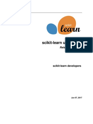 Scikit-learn User Guide Release 0 19 Dev0 | Support Vector