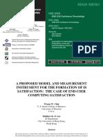 ChinLee 2000 ModelAndMeasurementForThe FormationOfISSatisfaction