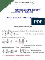 Aula Flexao Composta ESTRUTURAS DE AÇO