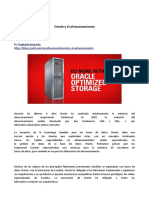 Oracle y El Almacenamiento