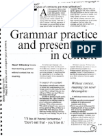 Grammar Practice and Presentation in Context