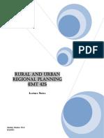464_Rural and Urban Regional Planning (EMT 425 )_Notes.pdf
