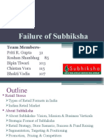 Failure of Subhiksha