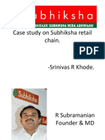 Case Study on Subhiksha Retail Chain