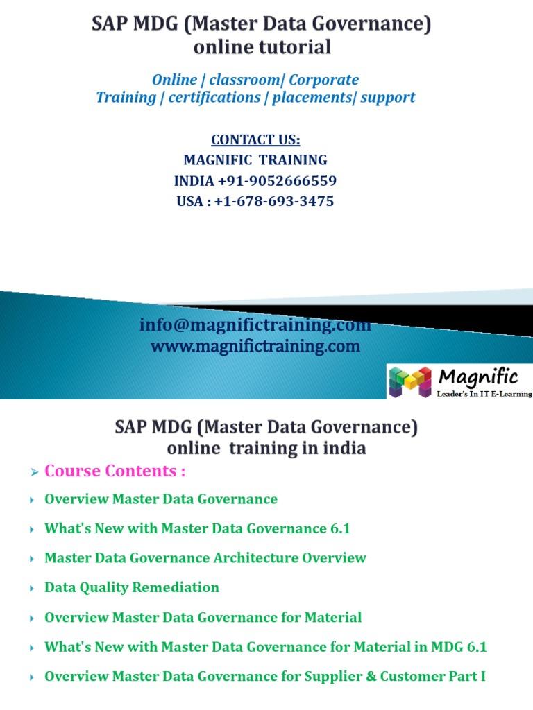 SAP MDG (Master Data Governance) Online Tutorial | Business Process ...