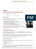 A Brief Overview ofOverall Equipment Effectiveness(OEE)