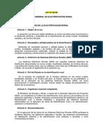 Ley General Electrificación Rural  y su Reglamento - CONCORDADOS.pdf