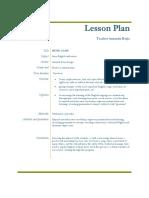 Lesson Plan Music Class