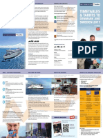 Scandilines TIMETABLES & TARIFFS TO DENMARK AND SWEDEN 2017