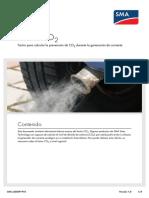 Factor CO2 Cálculo