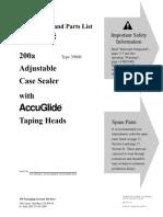 3M Matic Case Sealer System 200a