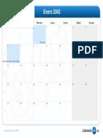 Calendario Enero 2042