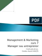 Curs 7 Antreprenor Sau Manager