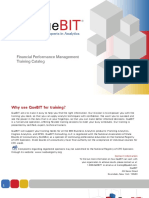 Financial Performance Management Training Catalog - Self Paced, Instructor Led, On-site Classes - QueBIT Consulting