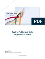 Testing Fulfillment Data Migration to Alma